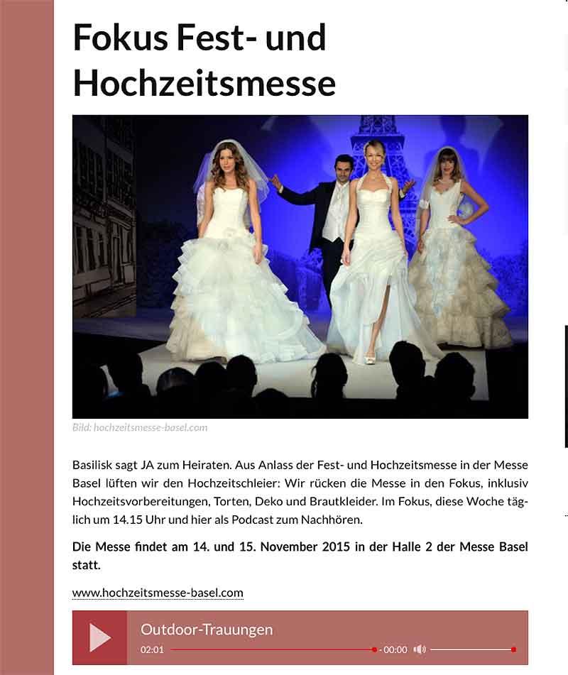 Outdoor-Trauung, Hochzeit im Freien mit Rosmarie Brunner