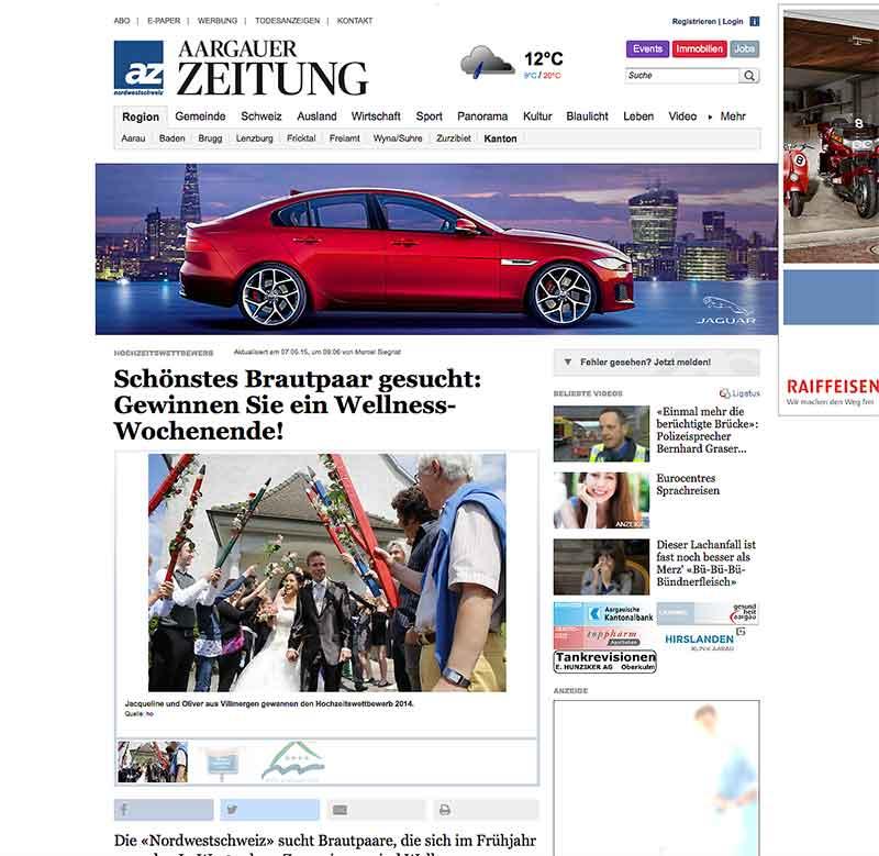 Grenchner Tagblatt sucht die zwei schönsten Brautpaare