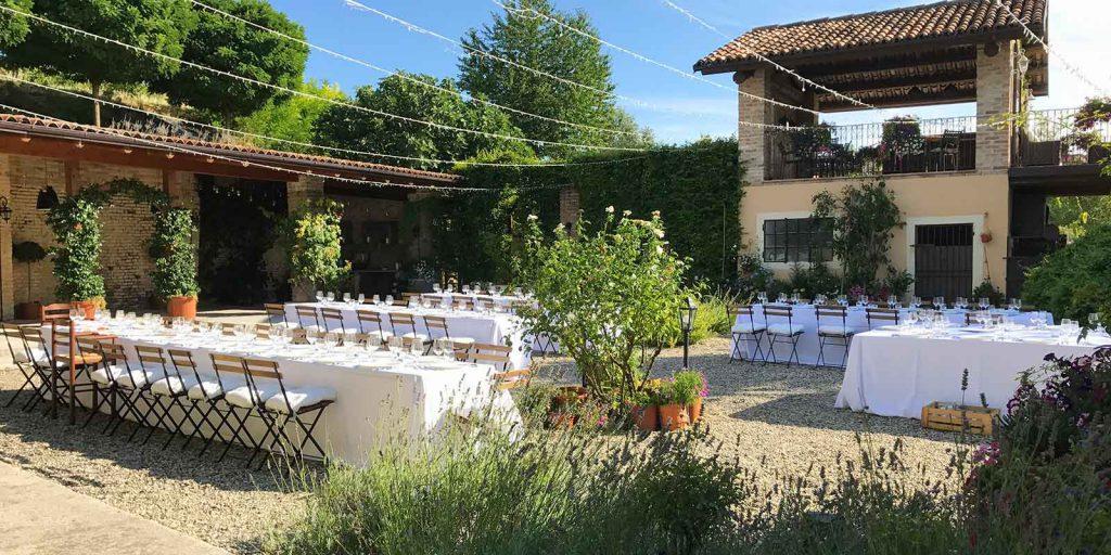 Zeremonie am Ort Ihrer Wahl Hochzeitsfeier im Freien, Piemont