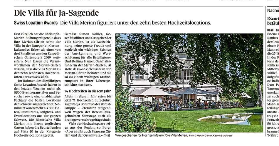 Hochzeitslocation Villa Merian