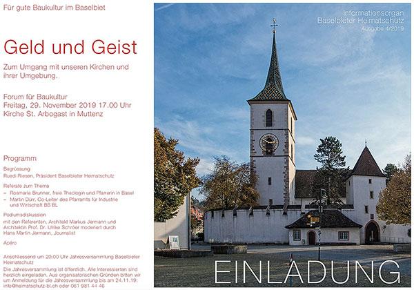 Foto Flyer Forum für Baukultur Heimatschutz Baselland