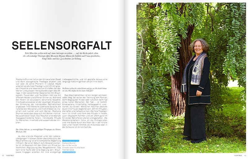 Bild: Rosmarie Brunner im Magazin Best of Basel
