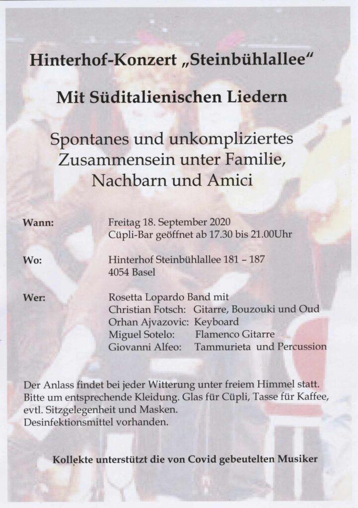 Hinterhof-Konzert «Steinbühlallee»