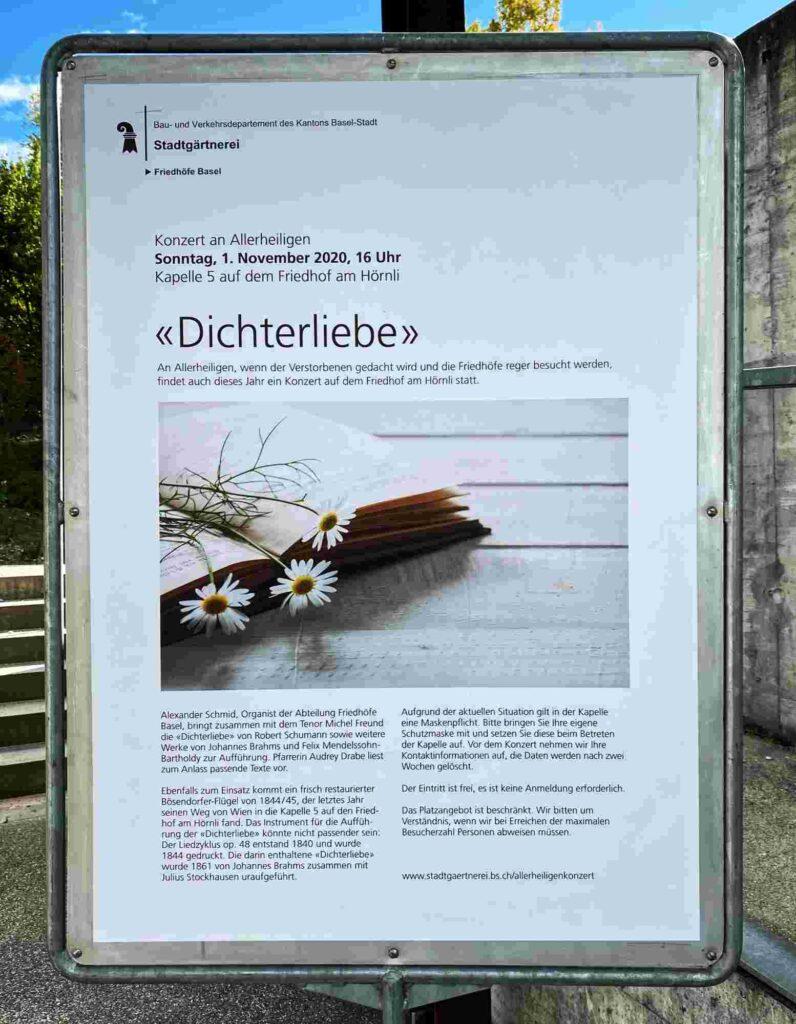 Konzert auf dem Friedhof Hörnli Dichterliebe