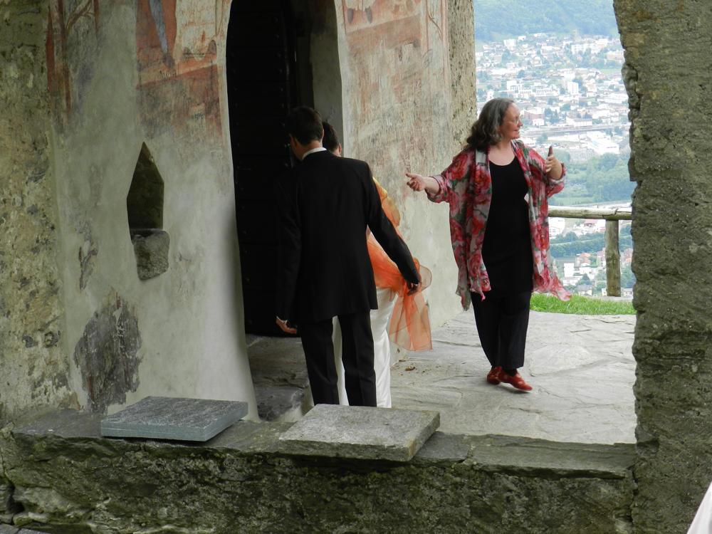 Bild: Heiratszeremonie, freie Trauung in einer Kapelle