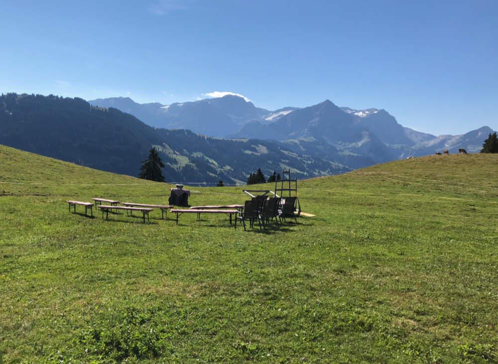 Taufe auf einer Alp, hoch in den Bergen