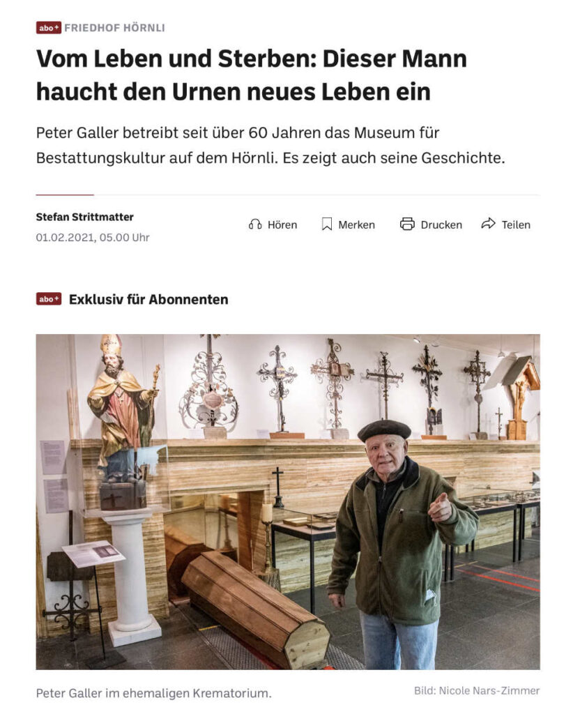 Bestattungskultur im Bestattungsmuseum des Friedhof am Hörnli