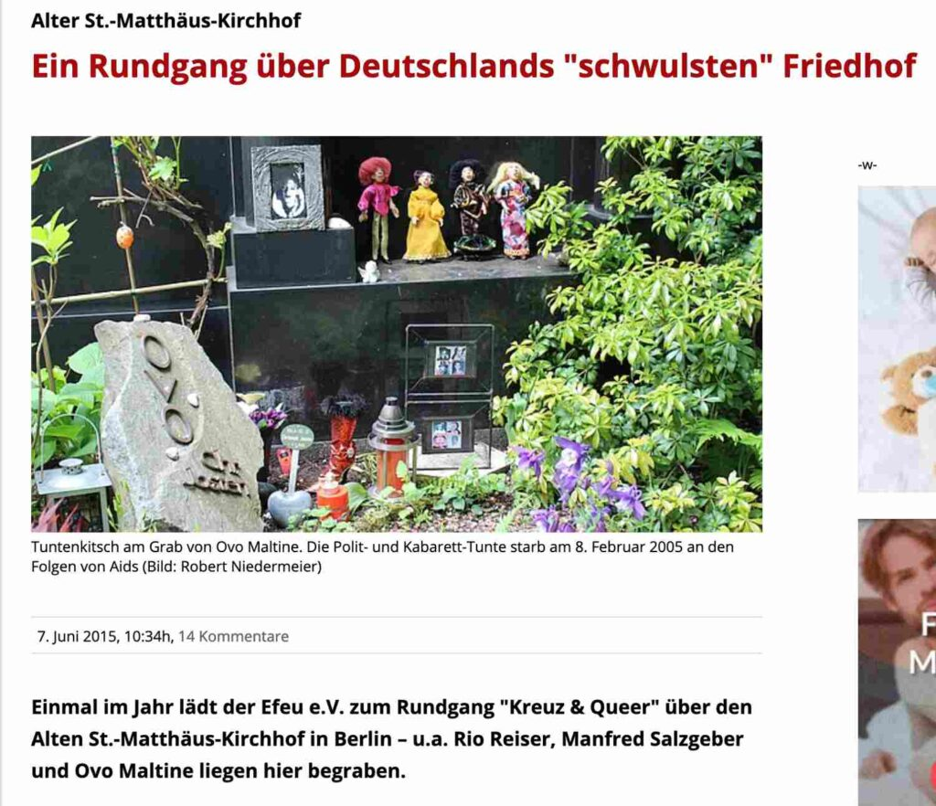 Queer Alter St.-Matthaeus Kirchhof